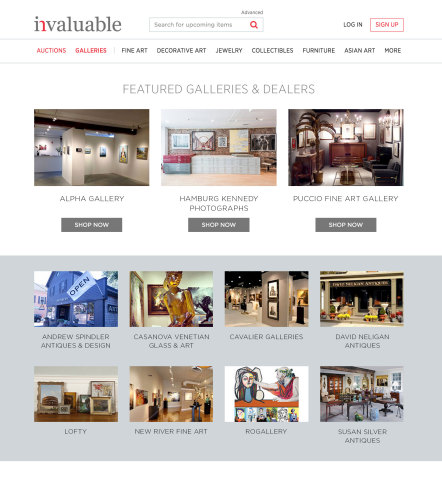 """As part of the launch, Invaluable is offering a new directory of galleries and dealers selling """"Buy Now"""" items on the Invaluable marketplace. (Photo: Business Wire)"""