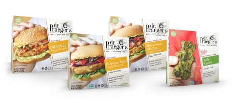 Dr. Praeger's Newest Products: Bibimbap, Heirloom Bean and Mushroom Risotto Veggie Burgers, and Kale Littles (Photo: Business Wire)