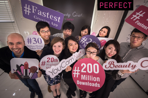 Perfect Corp., The World's Leading Beauty App Developer, Reaches 200 Million Downloads in Less Than 2 Years (Photo: Business Wire)