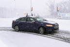 Ford's autonomous vehicles collect and process significantly more mapping data in an hour than the average person uses in mobile-phone data in 10 years. This is one of six facts Ford has revealed about its technology that allows for a car to drive itself in snow. (Photo: Business Wire)