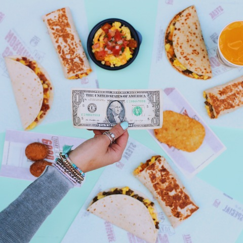 THIS JUST IN: A breakthrough new study conducted on behalf of Taco Bell reveals that consumers actually prefer spending less money than more money. Ironically enough, the research coincides with the launch of Taco Bell's new $1 Morning Value Menu, available on menus nationwide today. (Photo: Business Wire)