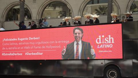 DishLATINO celebrates Eugenio Derbez for his star on the Hollywood Walk of Fame. (Photo: Business Wi ...