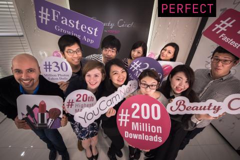 Perfect Corp., A líder mundial desenvolvedora de aplicativos de beleza, chega a 200 milhões de downloads em menos de 2 anos (Photo: Business Wire)