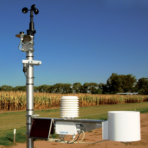 In-field iMETOS(R) weather sensors gather local weather data, which will be integrated into GEOSYS' platform and products for more confident decision making. (Photo: Pessl Instruments)