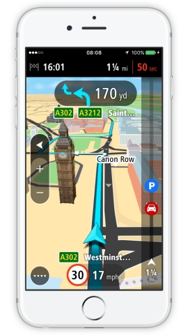 TomTom GO Mobile, Now Available for iPhone (Photo: Business Wire)