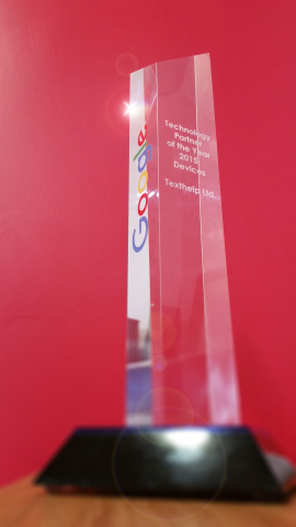 Google's Technology Partner of the Year (Devices) 2015 (Photo: Business Wire)