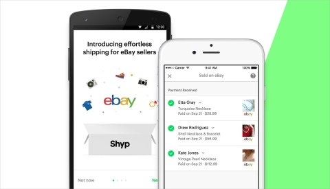 eBay and Shyp announce an extension of their shipping integration into the Los Angeles market to further help sellers from coast to coast get organized & earn extra money just in time for Spring Cleaning. The Shyp integration is one more way that eBay is making the online selling process easier for everyone. (Graphic: Business Wire)