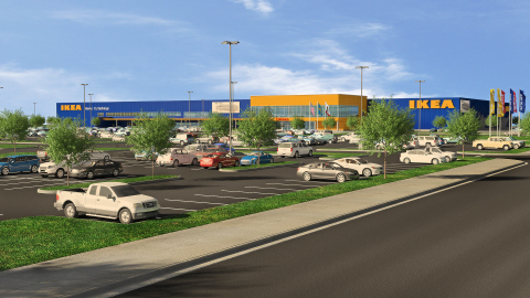 IKEA submits plans for a store in Dublin, California to open summer 2018, as 3rd San Francisco-area store and 9th in state. (Graphic: Business Wire)