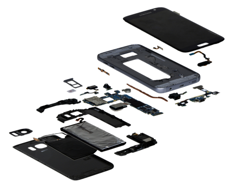 IHS Teardown | Samsung Galaxy S7 - Exploded View (Photo: Business Wire)