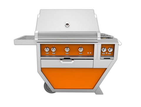"""Hestan 36"""" Deluxe Grill with Side Burner featured in signature color Citra. (Photo: Business Wire)"""
