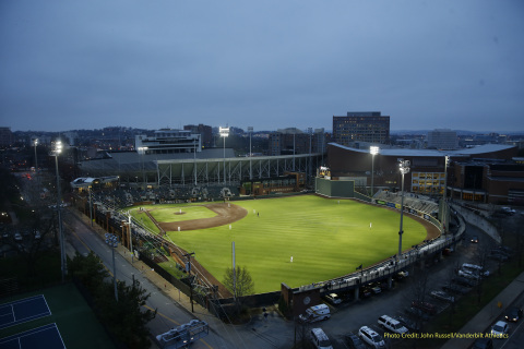 Eaton's Ephesus LED digital lighting controls system at Vanderbilt University's Hawkins Field offers industry-leading, glare-control innovations and operational flexibility – all while reducing energy by as much as 75 percent. (Photo: Business Wire)