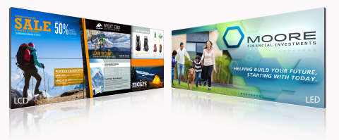The last Planar and Leyard LED and LCD Video Walls will be showcased at DSE 2016. (Photo: Business Wire)