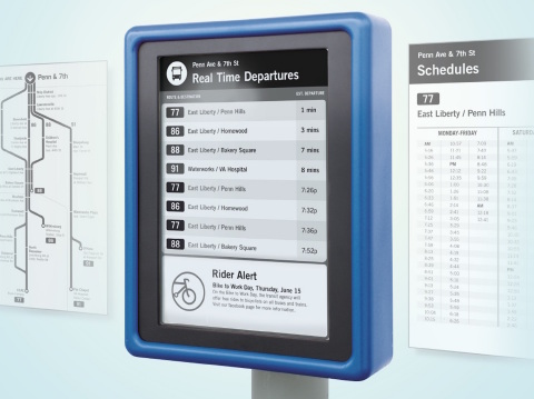 E Ink & CHK America present Digital Bus Stops, providing more flexibility to transit agencies and better information to customers.(Photo: Business Wire)