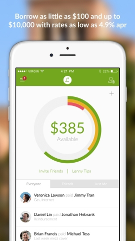 Lenny is the platform trusted by millennials to build their credit scores. (Photo: Business Wire)