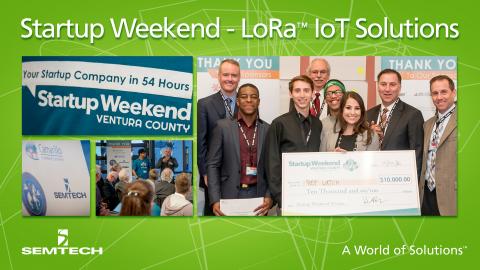 Startup Weekend Ventura County Participants Presented LoRa™-based Internet of Things Solutions to Help Solve the County's Agricultural & Medical Challenges (Graphic: Business Wire)