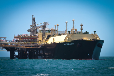 The Asia Excellence loading the first Gorgon liquefied natural gas (LNG) cargo for delivery into Jap ...