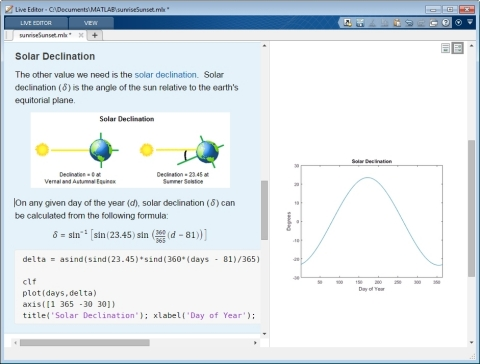 The Live Editor includes results together with the code that produced them to accelerate exploratory ...
