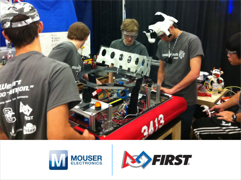 Mouser Electronics will be a major sponsor of this week's FIRST Robotics Competition Dallas Regional ...