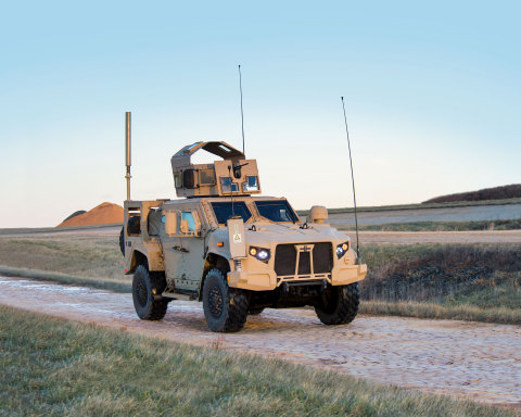 The next generation Oshkosh JLTV is a ''network on wheels'', able to serve as a mobile command center in future missions. (Photo: Business Wire)