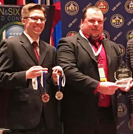 """Arrow Electronics' Lean Sigma Continuous Process Improvement Leader Thomas VanEimeren accepting the """"Innovation of the Year"""" award for Arrow's Global Logistics Olympics program at the Lean & Six Sigma World Conference. (Photo: Business Wire)"""