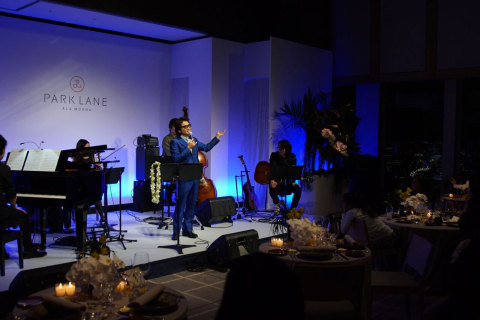 Fumiya Fujii on stage at Park Lane Ala Moana's Private Event (Photo: Business Wire)