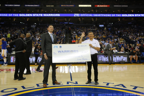 ZTE Teamed Up with the Golden State Warriors to Launch Phone Drive (Photo: Business Wire)