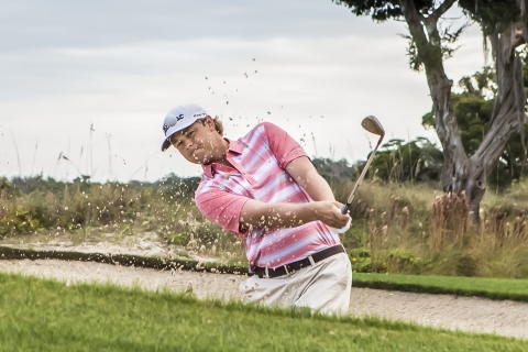 Athlete Patton Kizzire in the new Columbia Golf Collection (Photo: Columbia Sportswear)