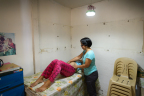 Panasonic's solar lanterns being used for prenatal checkup at the clinic in villages without electricity in Philippines (Photo: Panasonic Corporation)