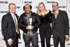 From left: Gilles Godard (ole VP, Corporate Affairs and Development), Timbaland (ole songwriter), Jennifer Essiembre (ole Senior Manager, Creative), and Brandon Schott (ole Director, Synchronization & Licensing).