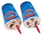 The new OREO® S'mores Blizzard® Treat and the incredibly popular S'mores Blizzard Treat. (Business Wire: Photo)
