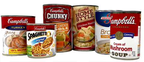 Campbell Soup Company today disclosed its plan to complete a transition to cans which do not use Bisphenol A (BPA) linings by the middle of 2017. The company began using cans with linings made from acrylic or polyester materials in March 2016 and will continue to introduce the new linings across its U.S. and Canadian portfolio through 2017. (Photo: Business Wire)