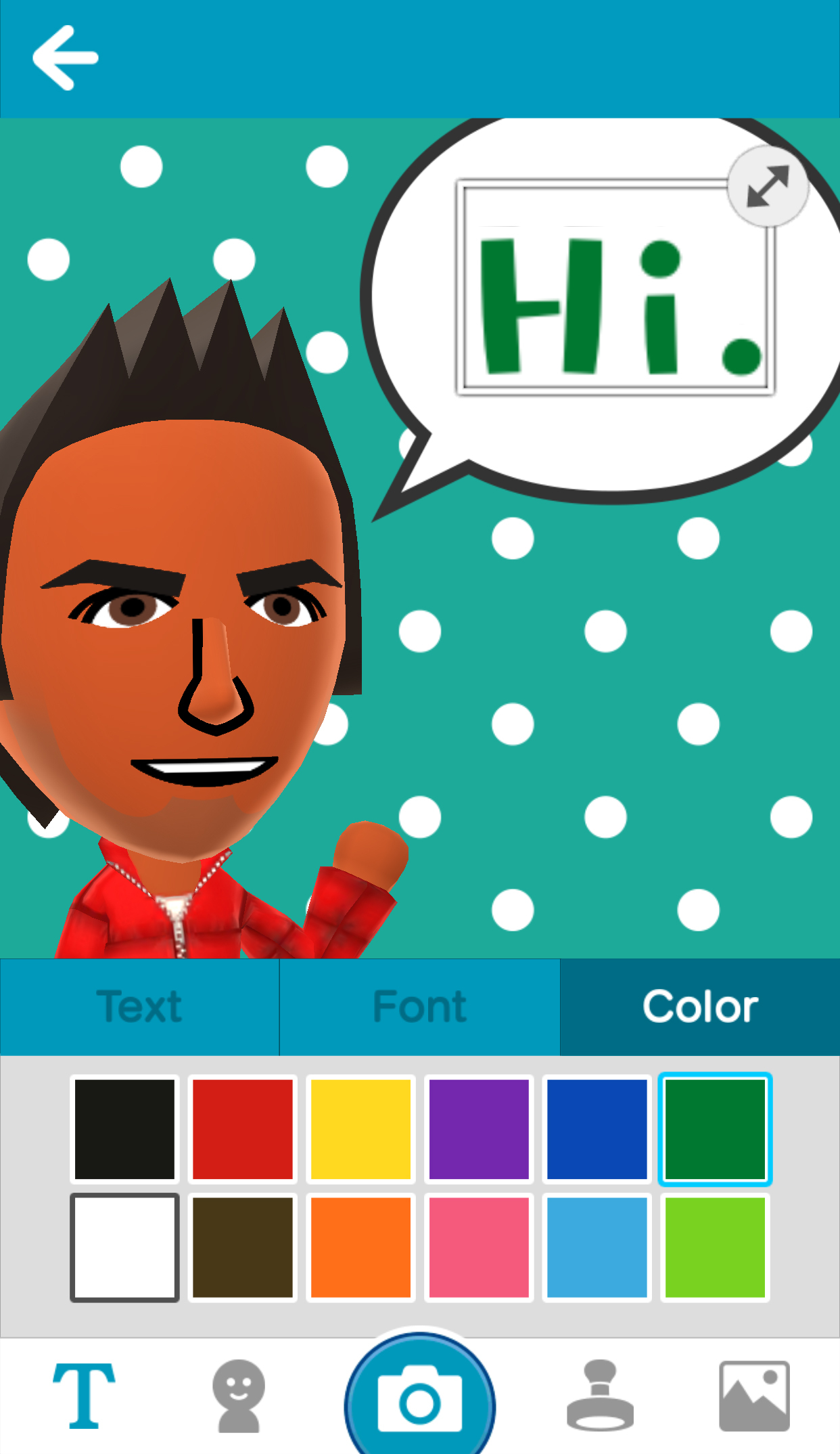Users create a Mii character and customize facial features like eyes and hair, as well as voice and personality. (Graphic: Business Wire)