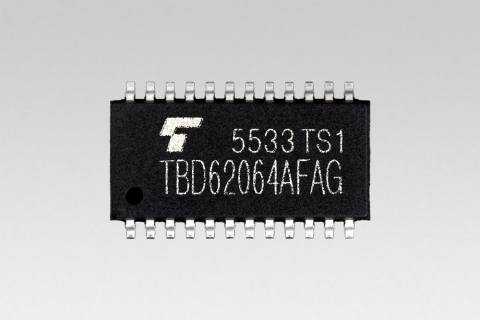 "Toshiba:DMOS FET transistor arrays ""TBD62064AFAG"" with 1.5A sink-output driver. (Photo: Business Wir ..."