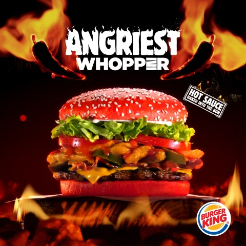 NEW Angriest WHOPPER® Sandwich with Red Bun Debuts at BURGER KING® Restaurants (Photo: Business Wire)
