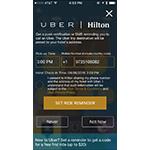 Hilton / Uber App Integration (Graphic: Business Wire)