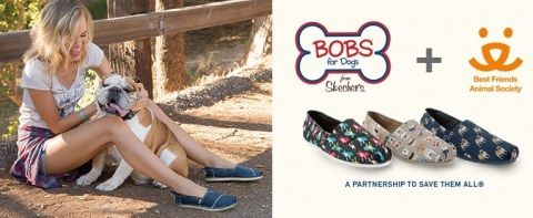 BOBS from Skechers launches Best Friends Animal Society footwear collection. (Graphic: Business Wire)