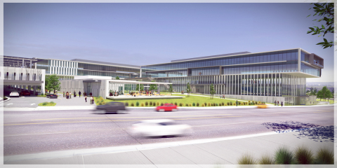 Chesnut Properties has commenced grading for the First Phase of Millenia Office, consisting of two four-story office buildings, totaling 318,000 square feet, a parking structure for 1,200 vehicles and a 7,000-square-foot fitness center and café complex. The corporate/office campus is part of Millenia, a 210-acre master-planned community in San Diego's South County, approximately four miles from the U.S./Mexico border. Image Credit: 3DRenderStudio.com