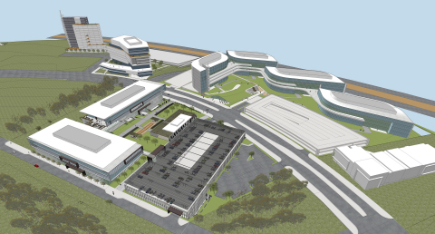 Artist's rendering of the entire 28-acre Millenia Office campus, a 2 million-square-foot Class A Office Campus in the heart of the Cali-Baja Bi-National Mega-Region in the master-planned community of Millenia in south San Diego County. Chesnut Properties has purchased the 7-acre first phase and has an option to purchase the entire property. Image Credit: Gensler