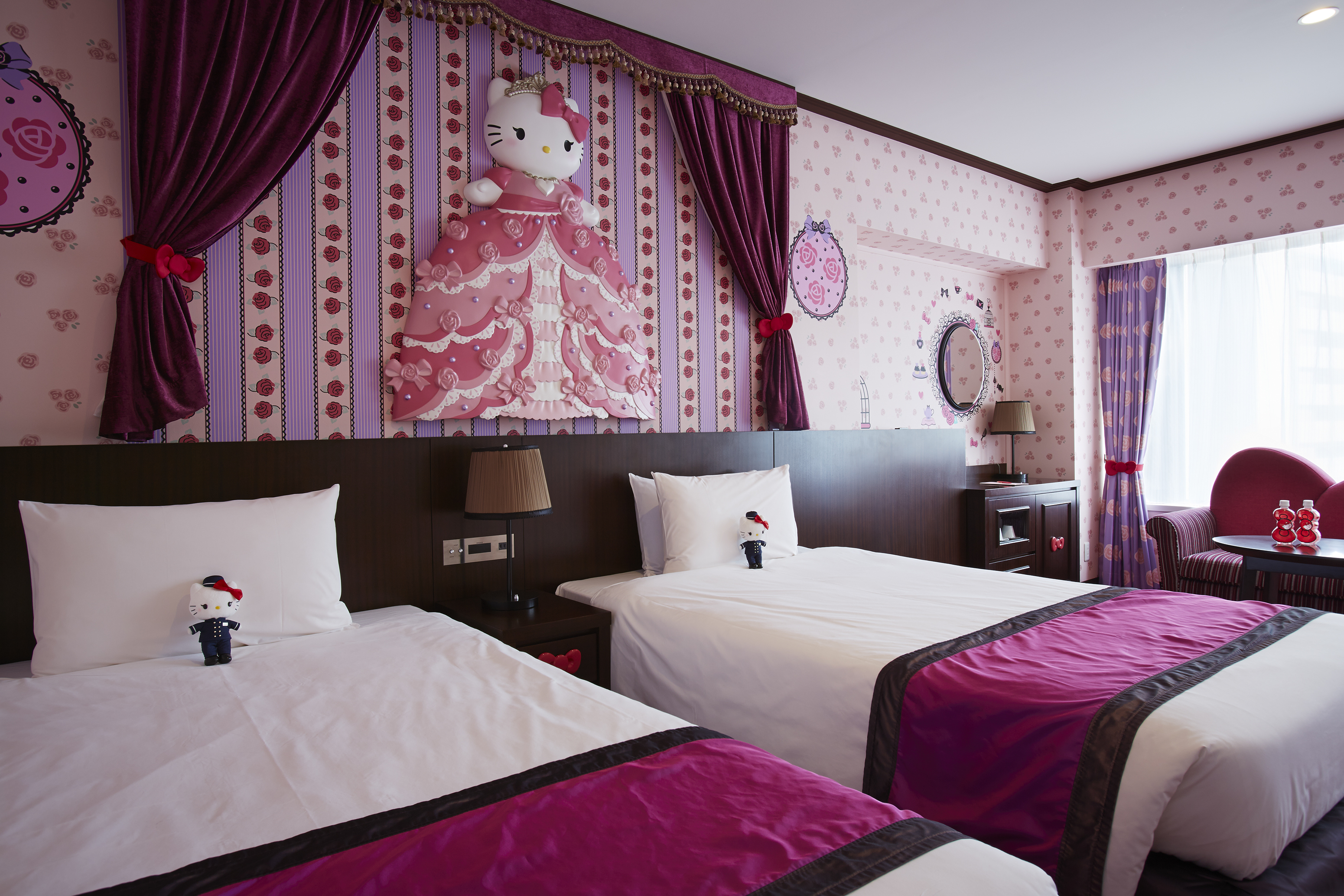 keio plaza hotel tokyos limited time offer for hello kitty room guests special present of hello kitty doll in a bell staffs uniform business wire - Purple Hotel 2016