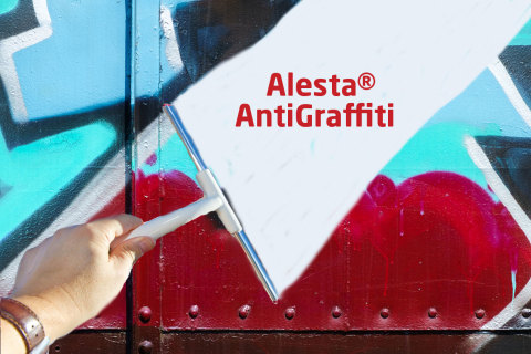 Alesta Anti-Graffiti powder coatings protect against graffiti and reduce the time, effort and costs associated with repairing the damage caused by spray-painting vandals. (Photo: Axalta)