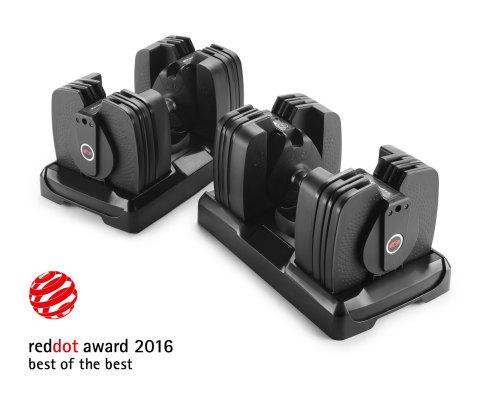 The Bowflex® SelectTech® 560 Dumbbells earn prestigious international Red Dot: Best of the Best award for groundbreaking design. (Photo: Business Wire)