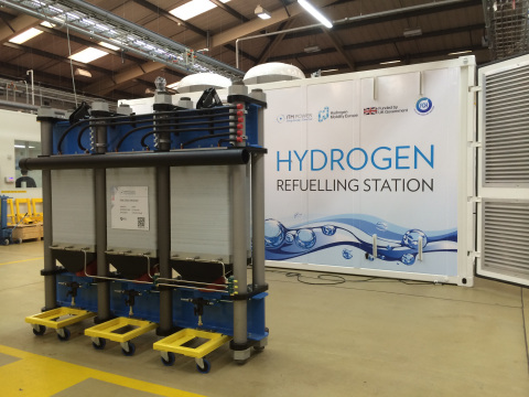 ITM Power's 1MW Electrolyser System (Photo: Business Wire)