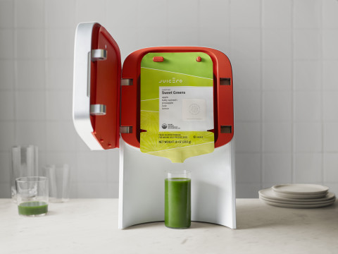 Juicero: the first countertop cold-press juicing system (Photo: Business Wire)