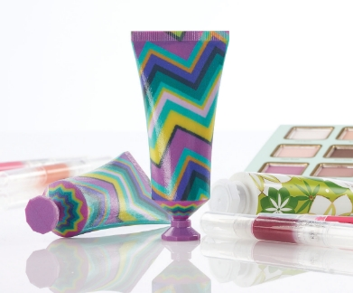 The new Stratasys J750 3D Printer transforms product design by using full-color 3D printing with texture mapping to create true product-matching prototypes in a single print operation, such as these cosmetic tubes. (Photo: Business Wire)