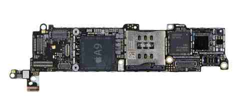 IHS Teardown: iPhone SE Main PCB, Top (Photo: Business Wire)