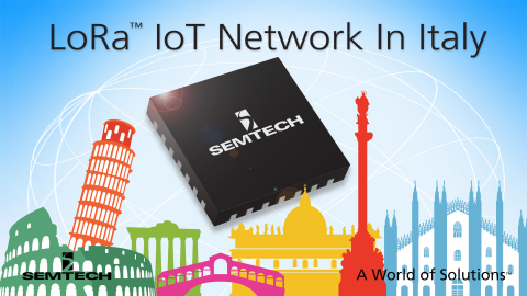 Semtech LoRa™ Wireless RF Technology Adopted by A2A for New Smart City Initiative. (Graphic: Business Wire)