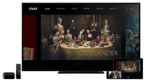 "The new STARZ app, featuring the hit STARZ Original series, ""Outlander,"" is available today for iPhone, iPad, iPod touch and Apple TV, as well as Android devices. The single destination app offers streaming and downloading of STARZ Originals, big hit movies, and classic TV series. Consumers today have a new option for purchasing STARZ subscriptions in the App Store and Google Play Store for $8.99/month, in addition to accessing STARZ as part of their cable, satellite and telco premium pay TV subscriptions. (Photo: Business Wire)"