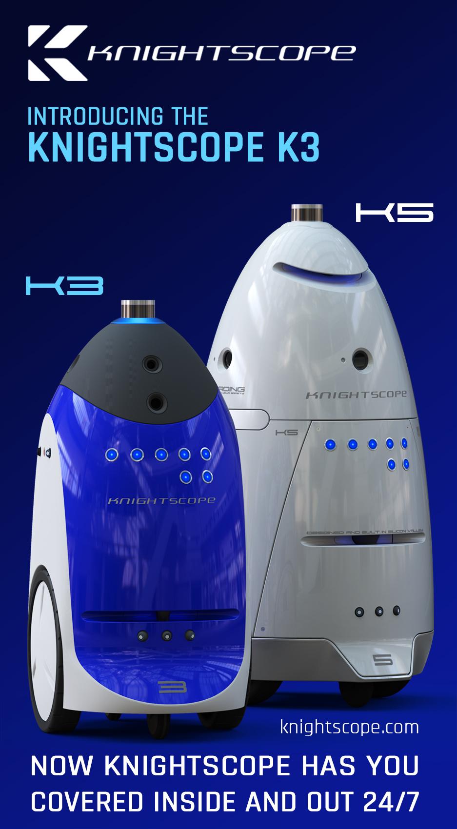 knightscope announces k3 indoor autonomous security robot business wire. Black Bedroom Furniture Sets. Home Design Ideas