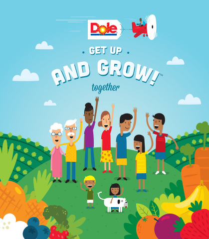 Dole's Get Up and Grow! Together campaign challenges Americans to think of healthy eating and living as team sports in 2016. (Photo: Business Wire)