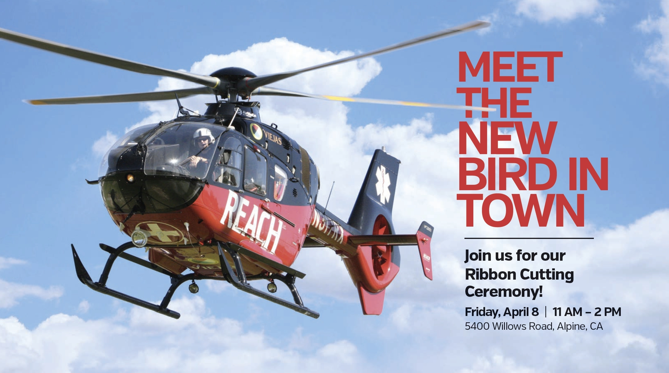 The event will feature aircraft on display from Reach Air as well as several dignitaries from the Tribe and Reach Air speaking to the partnership. (Graphic: Business Wire)